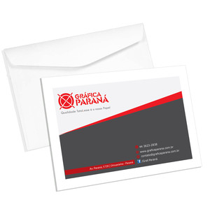 500 Envelopes Comercial 16,2x11,4cm Pronto  - 4x0 - Papel offset 90g